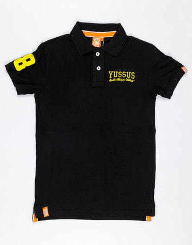 YUSSUS SAW 1 + 8 – BRAVE BLACK, MENS POLO SHIRT - NOWNOW