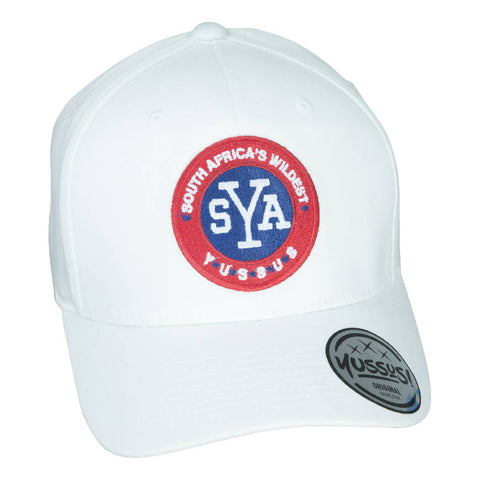 YUSSUS -WHITE, X-SHAPE CAP, SYA BADGE - NOWNOW