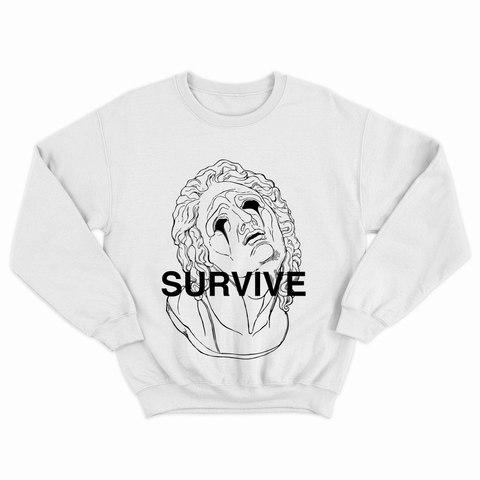 Survive White Sweatshirt by NWNW - NOWNOW