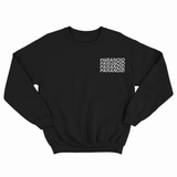 Paranoid Black Sweatshirt by NWNW - NOWNOW