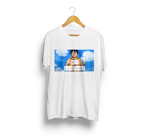 Monkey D Luffy in White Short Sleeve T-Shirt by Red Thread Apparel