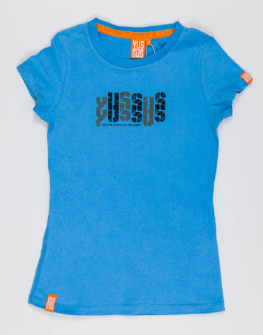 YUSSUS DISTORT – BOOST BLUE, LADIES TSHIRT - NOWNOW