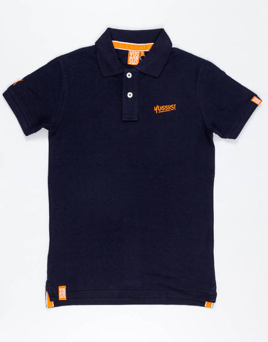 YUSSUS + Y TAGS – NOCTURNAL NAVY, MENS POLO SHIRT - NOWNOW