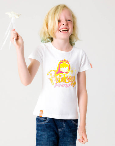 PRINCESS POWER – WISDOM WHITE, GIRLS TSHIRT - NOWNOW