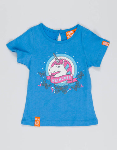 UNICORN PRINCESS – BOOST BLUE, GIRLS TSHIRT - NOWNOW