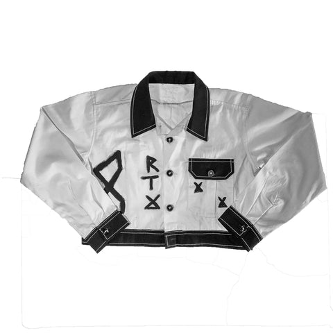 White Denim Bleach Captain Hitsugaya Jacket by Red Thread Apparel