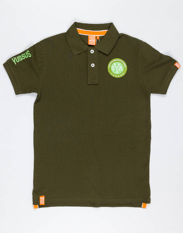 YUSSUS SAW SYA – GROWTH GREEN, MENS POLO SHIRT - NOWNOW