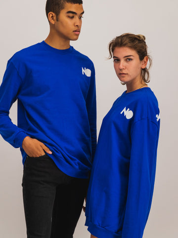 Crewneck in Royal Blue - NOWNOW