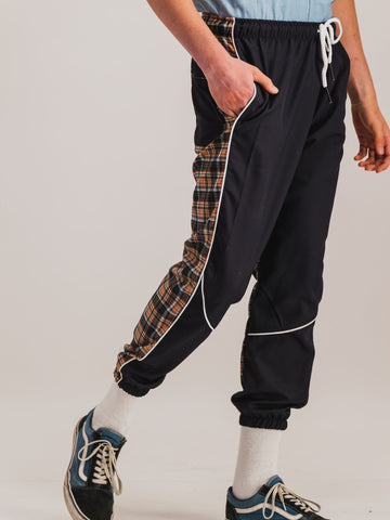 Tartan Spliced Trousers - NOWNOW