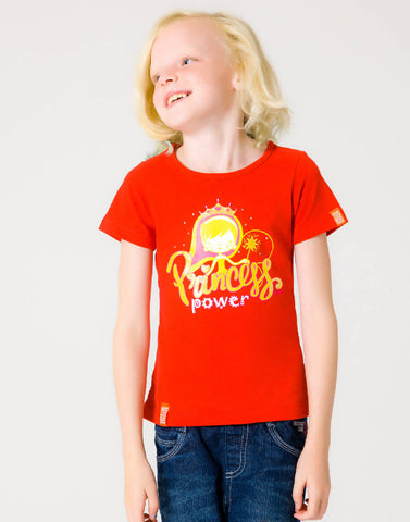PRINCESS POWER – RAGING RED, GIRLS TSHIRT - NOWNOW