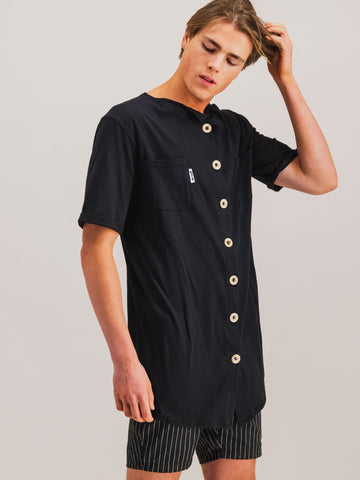 Button Ups in Black - NOWNOW