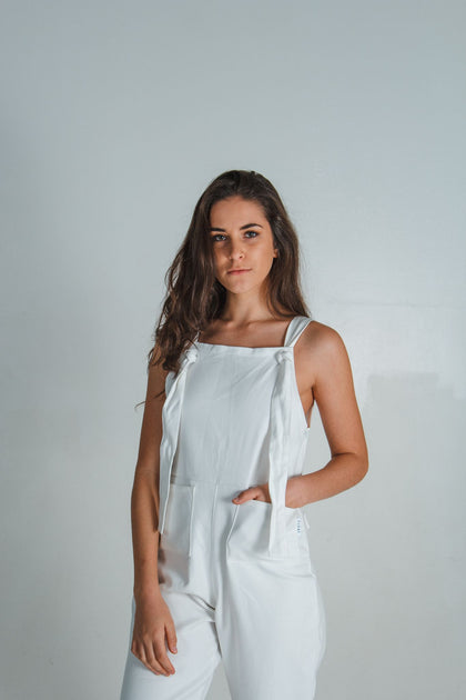 WHITE AMICA DUNGAREE - NOWNOW