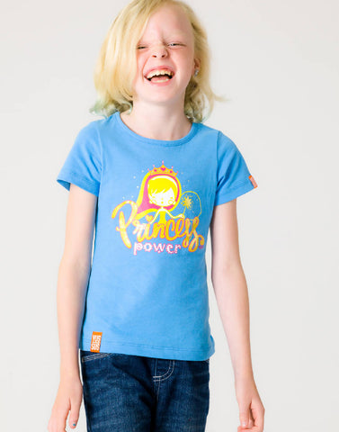 PRINCESS POWER – BOOST BLUE, GIRLS TSHIRT - NOWNOW