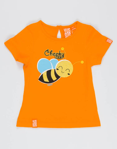CHEEKY BEE – OUTRAGEOUS ORANGE, GIRLS TSHIRT - NOWNOW