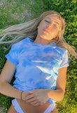 Oversized Sky Dye T-Shirt by NOWNOW Design