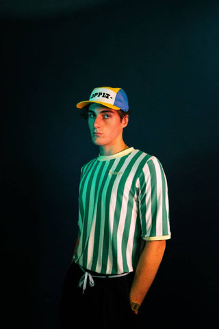 OLDSKOEL Green Striped Tee - NOWNOW