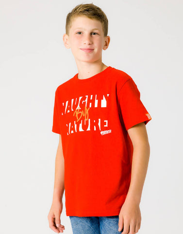 NAUGHTY BY NATURE – RAGING RED, BOYS TSHIRT - NOWNOW