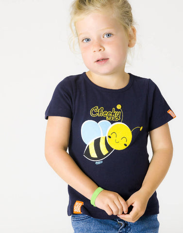 CHEEKY BEE – NOCTURNAL NAVY, GIRLS TSHIRT - NOWNOW