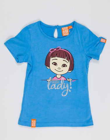 LITTLE LADY – BOOST BLUE, GIRLS TSHIRT - NOWNOW