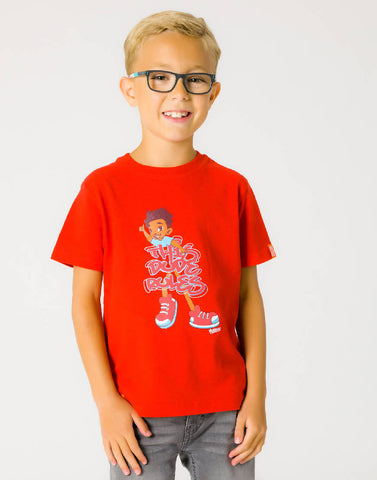 THIS DUDE RULES – RAGING RED, BOYS TSHIRT - NOWNOW
