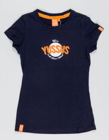 YUSSUS CIRCLE – NOCTURNAL NAVY, LADIES TSHIRT - NOWNOW
