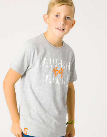 NAUGHTY BY NATURE – GROOVY GREY, BOYS TSHIRT - NOWNOW