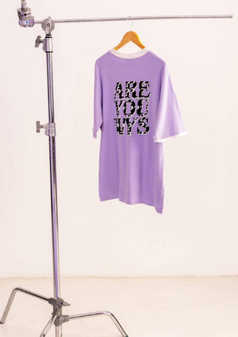 ARE YOU WYS Lilac T-Shirt - NOWNOW