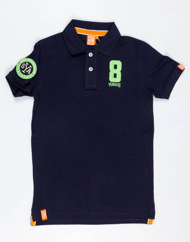 YUSSUS SYA YUSSUS 8 – NOCTURNAL NAVY, MENS POLO SHIRT - NOWNOW