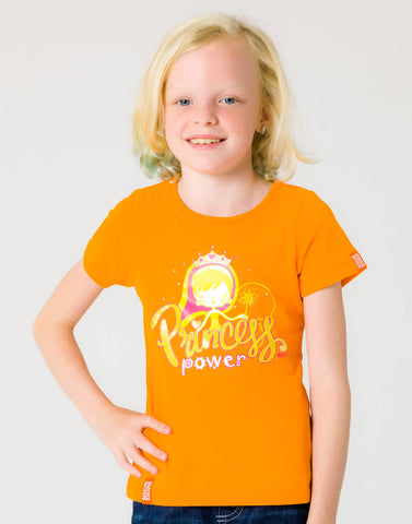 PRINCESS POWER – OUTRAGEOUS ORANGE, GIRLS TSHIRT - NOWNOW