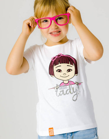 LITTLE LADY – WISDOM WHITE, GIRLS TSHIRT - NOWNOW