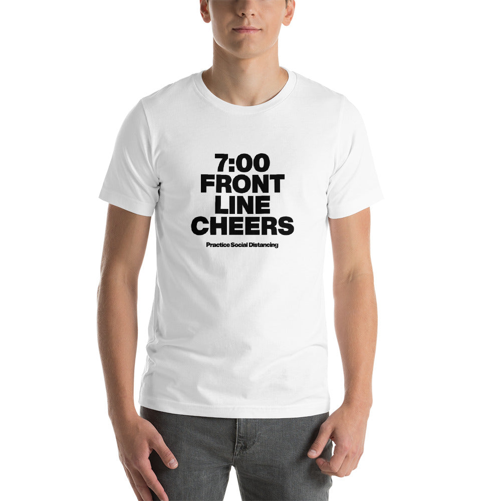 Short-Sleeve Unisex T-Shirt - Front Line Cheer
