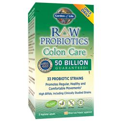 Raw Probiotics Colon Care 30 Caps