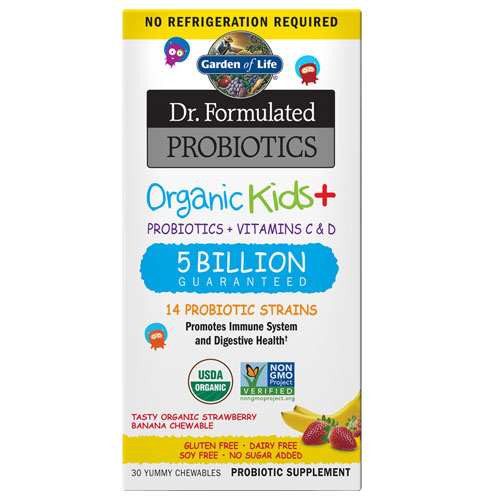 Dr. Formulated Probiotics Organic Kids (Strawberry/Banana)