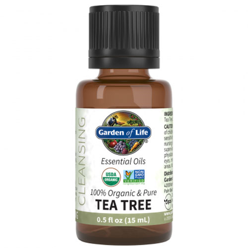 ORGANIC TEA TREE ESSENTIAL OIL 0.5 OZ. BY GARDEN OF LIFE