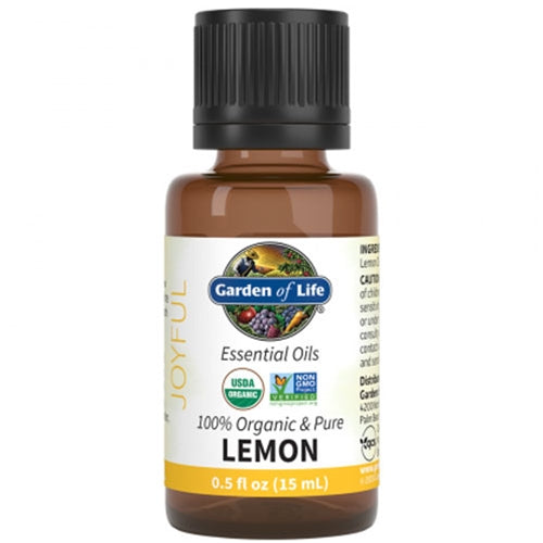 ORGANIC LEMON ESSENTIAL OIL 0.5 OZ. BY GARDEN OF LIFE