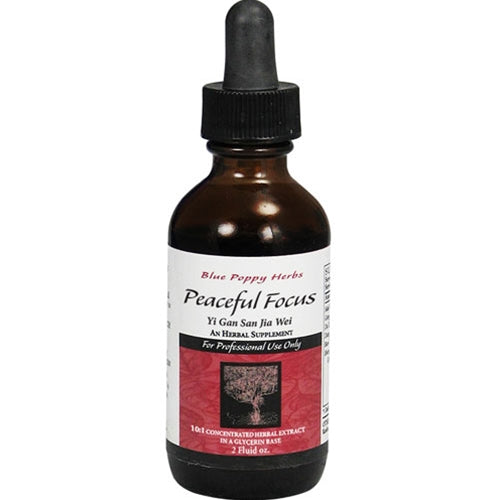 PEACEFUL FOCUS (GLYCERIN TINCTURE) 2OZ, BLUE POPPY