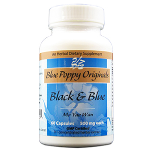 BLACK & BLUE CAPS 60'S, BLUE POPPY