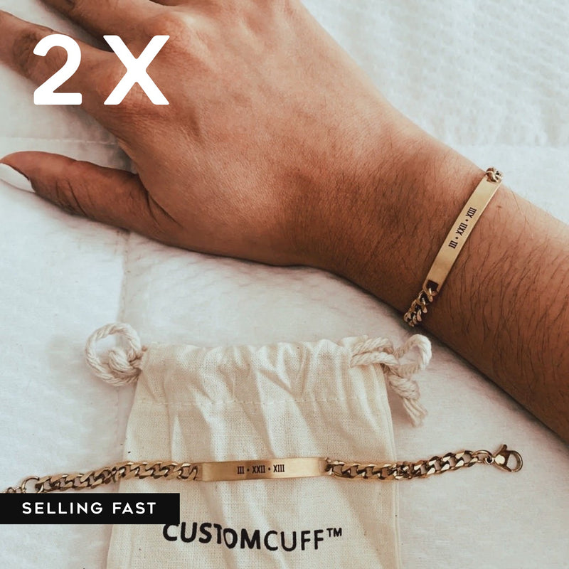 2X CUSTOM CHAIN BRACELET SET