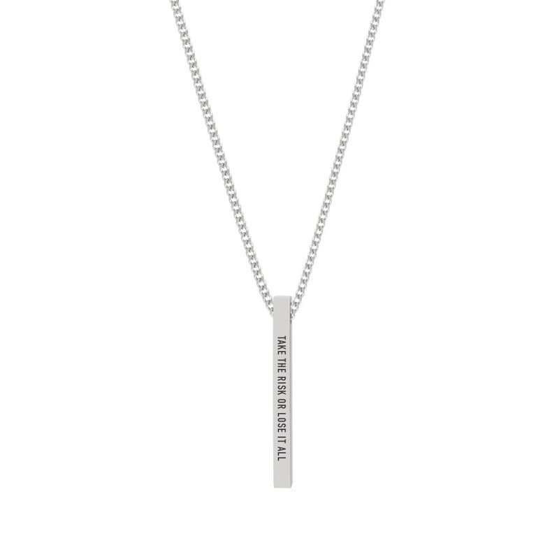 """TAKE THE RISK OR LOSE IT ALL"" NECKLACE"