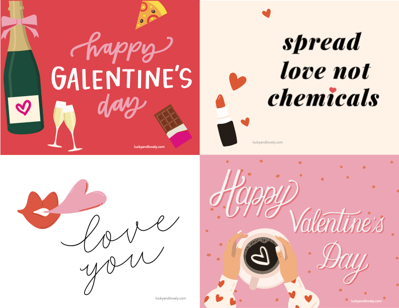 lucky and lovely valentines day printable