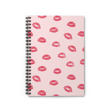 Load image into Gallery viewer, Lipstick print Spiral Notebook