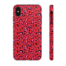 Load image into Gallery viewer, Signature Red Leopard Tough Phone Case
