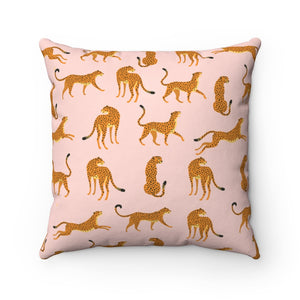 Pink Cheetah Square Pillow