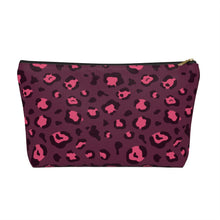 Load image into Gallery viewer, Plum Leopard Pouch