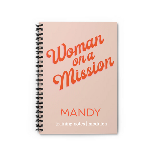 Personalized Woman on a Mission Notebook