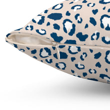 Load image into Gallery viewer, Cream Leopard Print Square Pillow