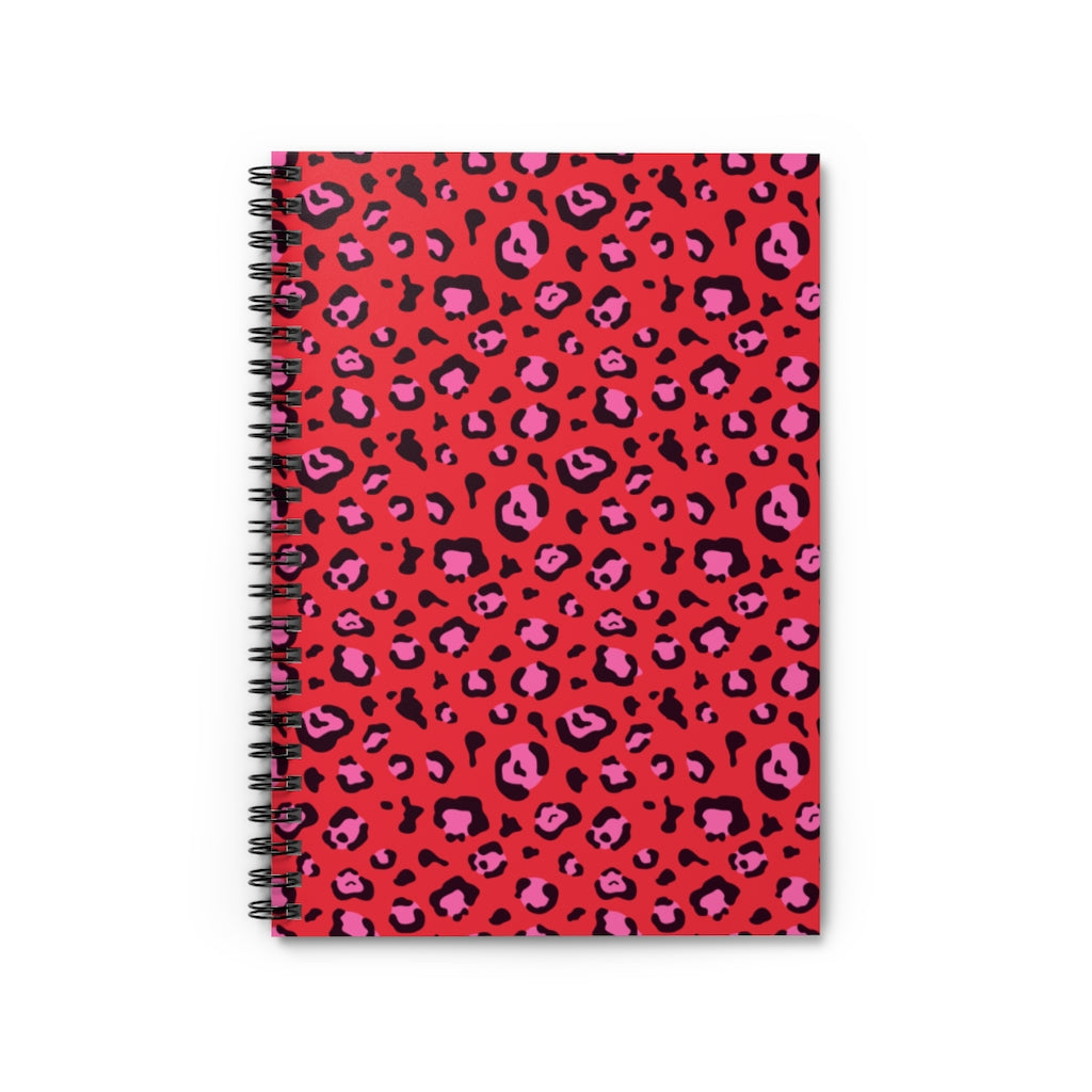 Red Leopard Spiral Notebook