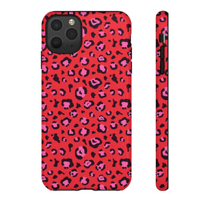 Signature Red Leopard Tough Phone Case
