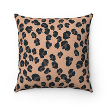 Load image into Gallery viewer, Signature L+L Leopard Print Square Pillow