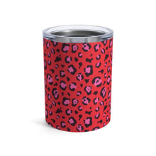 Load image into Gallery viewer, Holiday 2020 Red Leopard 10 oz Tumbler